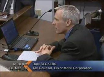Dan Seckers, tax consultant for Exxon Mobile, testifies before the House Resources Committee on Tuesday.