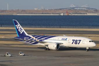 Boeing 787 in Tokyo.