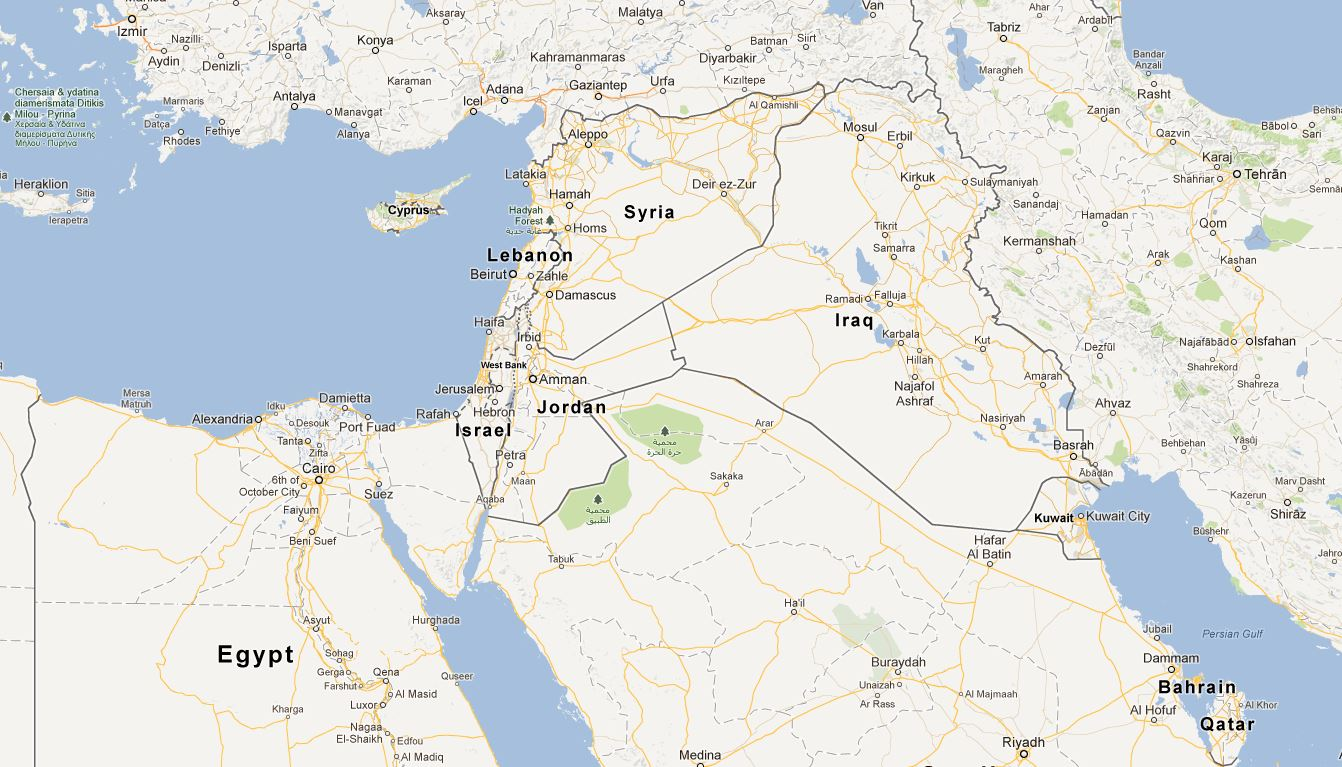 Middle East Map KTOO