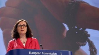 "EU Home Affairs Commissioner Cecilia Malmström said Monday that ""trafficking in human beings is all around us, closer than we think."" European Union"