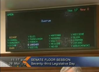 Roll call at Thursdays Senate Floor session