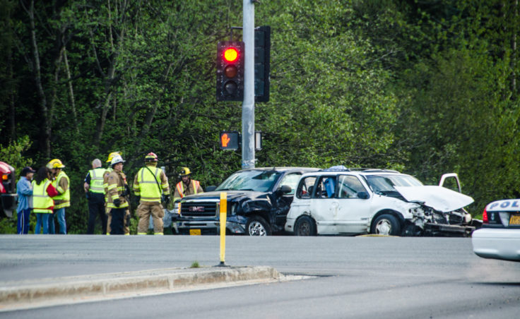 Three people were taken to the hospital for treatment of non life-threatening injuries.