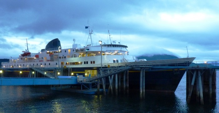 The ferry Malaspina sails out of Juneau's Auke Bay terminal in 2012. It's one of 10 active vessels in the Alaska Marine Highway fleet. The system's new executive director, Shirly Marquardt, will begin work June 1.