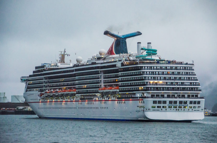 The Carnival Miracle arriving in Juneau in 2013.