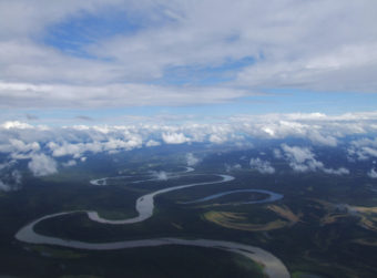 Aerial photo of the Kuskokwim River.