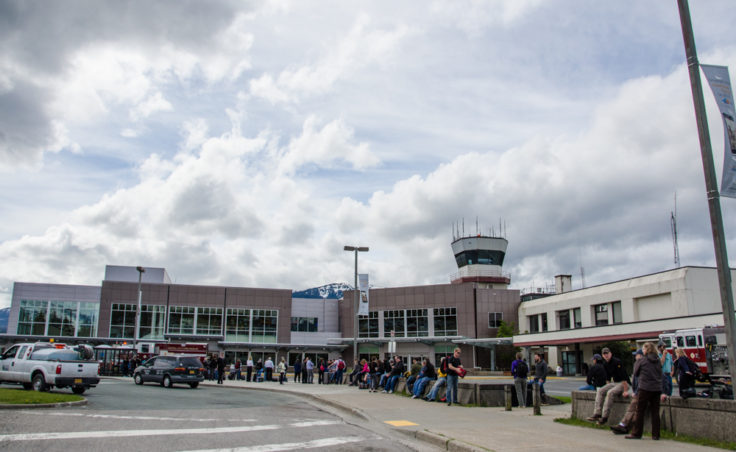 Passengers and employees were evacuated when the terminal filled with diesel fumes this morning.