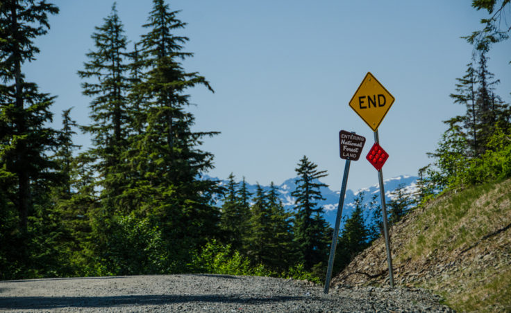 The road now ends at Cascade Point instead of Echo Cove.