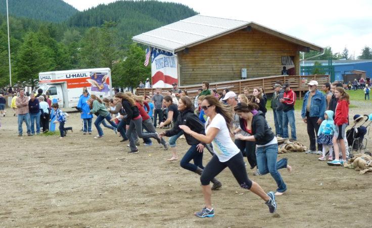 The women's 50-yard dash.
