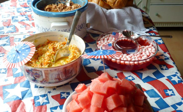 Patriotic and tasty food