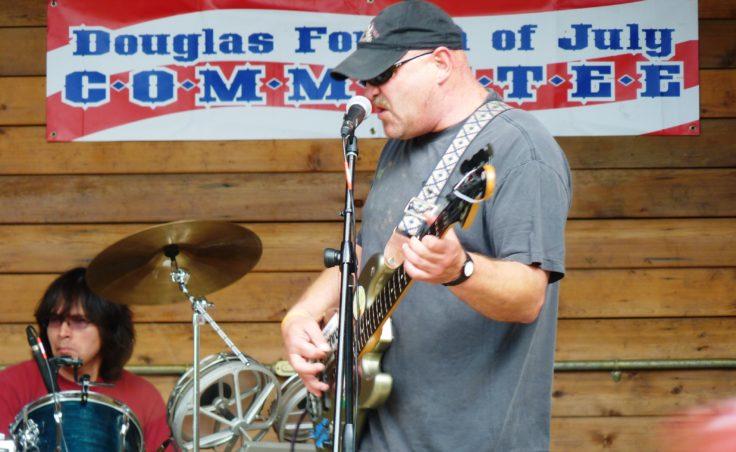 A rock band at the Douglas celebration.