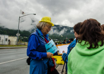 Volunteers also collected signatures during the Fourth of July parade.