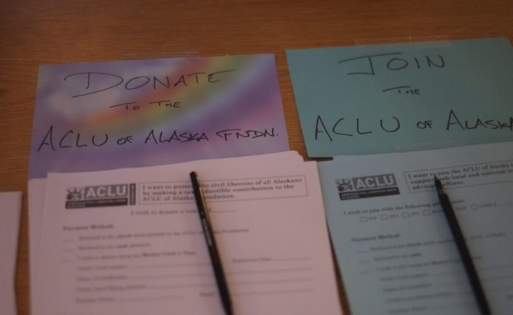 a picture of forms for aclu of Alaska