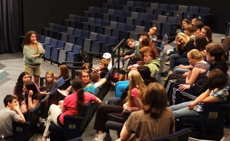 Shona Strauser talks to students