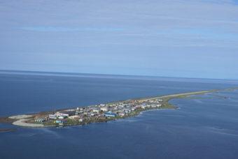The community of Kivalina, Alaska. (Photo by Coast Guard Lt. Cdr. Micheal McNeil)