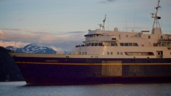 Matanuska ferry coming into Auke Bay