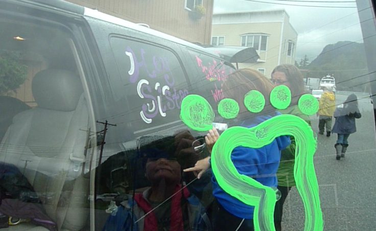 Decorating cars for the Klondike