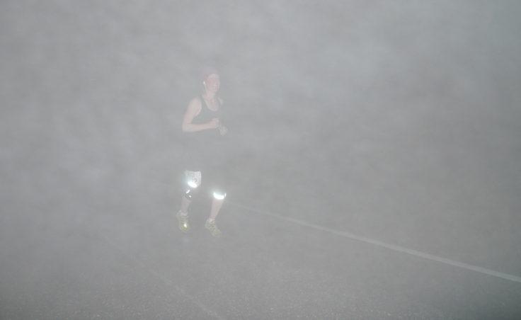 Klondike runner in the heavy fog