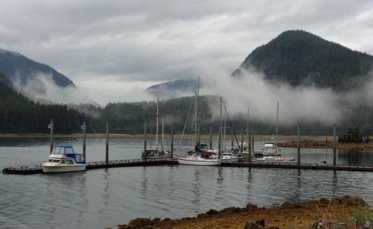 Taku Harbor is the staging area for race two and three of the regatta. (Photo by Lisa Phu/KTOO)