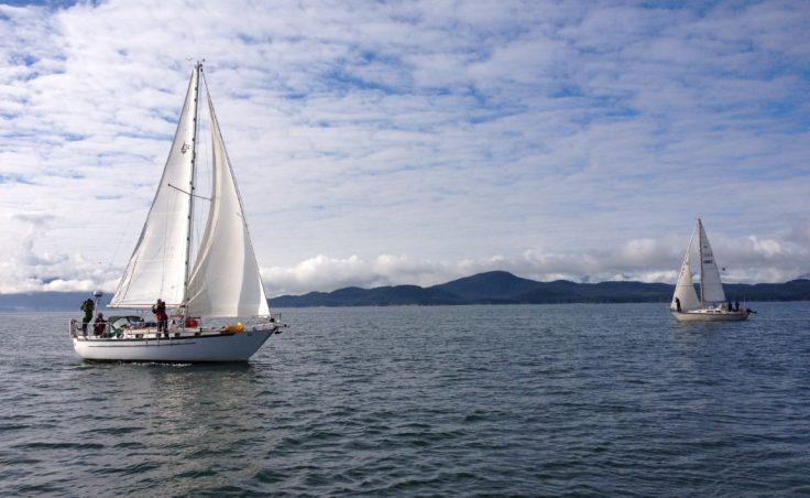Haiku, skippered by Brian Lieb, wins the 2013 SEAS cup. (Photo by Lisa Phu/KTOO)
