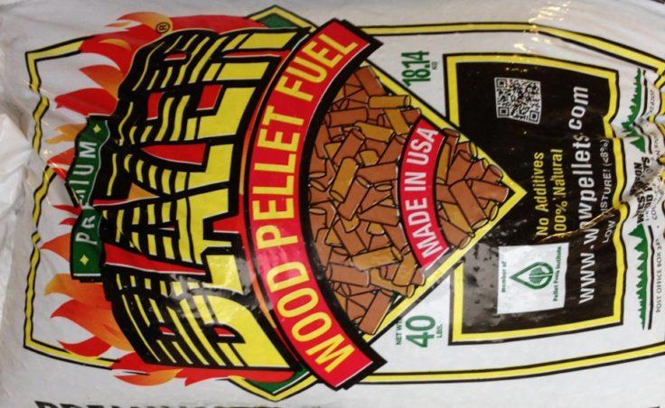 40 lb bags of wood pellets