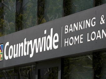 The Countrywide Banking and Home Loans office in Glendale, Calif., in an April 2007 photo. Damian Dovarganes/AP
