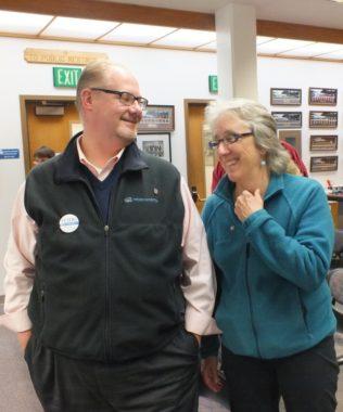 Bill Peters Kate Troll 2013 municipal election night