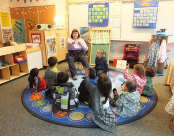Tanya Roust leads a class at the Gastineau Community School.