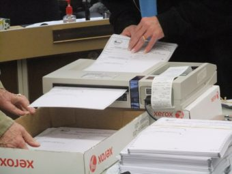 ballot in machine