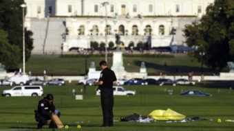 """The man who set himself on fire at the National Mall Friday afternoon was John Constantino, 64, of Mount Laurel, N.J., police say. Constantino's family says they were shocked by the action, which they link to """"a long battle with mental illness."""" Alex Brandon/AP"""