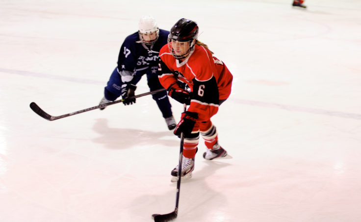 Juneau newcomer Kate Metcalf saw duty on junior varsity and varsity during a weekend series versus Soldotna at Treadwell Ice Arena.