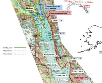 Juneau Access map