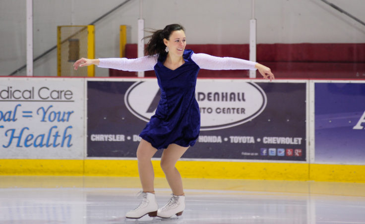 Emily Howard returned to coaching and performing this season, starting with this routine to the backdrop of Elvis Presley's, If Every Day Was Like Christmas during Juneau Skating Club's annual holiday recital.