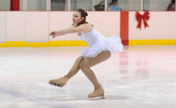 Sabrina Jones turns on a single blade while dancing to the high-energy song Hot Chocolate from Tom Hanks' Polar Express.