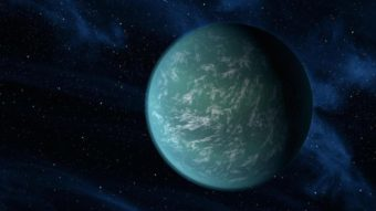 "Kepler-22b, seen in this artist's rendering, is a planet a bit larger than Earth that orbits in the habitable zone of its star. Some researchers think there might be ""superhabitable"" worlds that may not resemble Earth. NASA/Ames/JPL-Caltech"