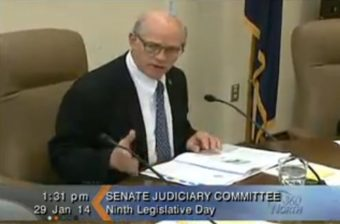 Senate Judiciary Committee meeting on Jan. 29, 2014. (Image courtesy Gavel Alaska)