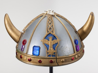Dr. Seuss collected hats like this plastic toy Viking helmet for over 60 years. The Art of Dr. Seuss