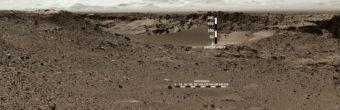 A view of the dune from a distance. NASA/JPL-Caltech/MSSS