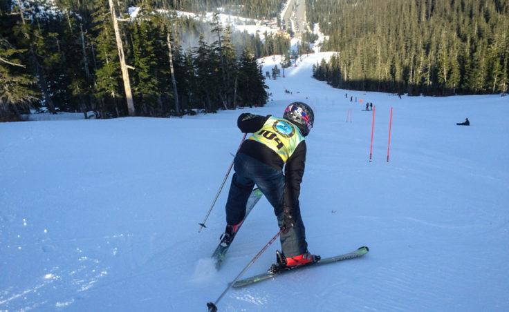 Arvid Bush, age 9, on the race course. (Photo courtesy John Bush)