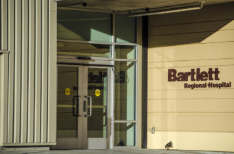 Bartlett Regional Hospital emergency entrance. (Photo by Heather Bryant/KTOO)