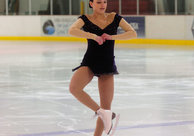 Shelby Hydock kicks off the Free Skate 2 competition at Treadwell Ice Arena.