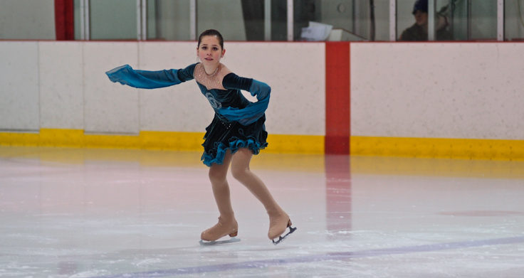 Olivia Gardner was among three skaters performing in the pre-preliminary category.