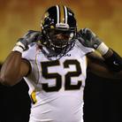 Missouri Tigers defensive lineman Michael Sam. Rick Scuteri/AP