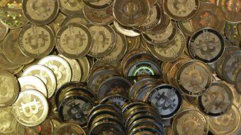 A photo of tokens representing bitcoins. Rick Bowmer/AP