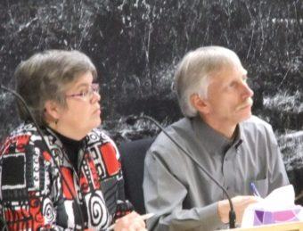 Juneau City Manager Kim Kiefer and Finance Director Bob Bartholomew