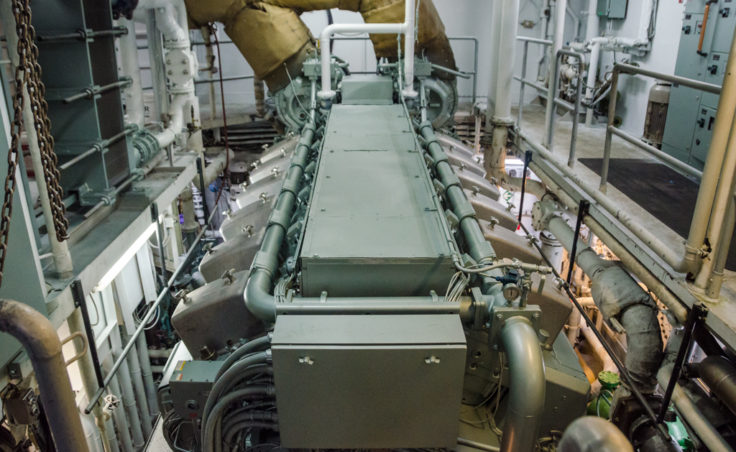 One of the Kennicott's two massive engines.