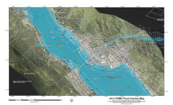 Downtown and West Juneau FEMA flood maps 2013