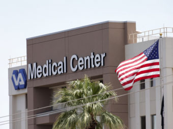 The Department of Veterans Affairs in Phoenix, where the VA's inspector general says numerous problems with scheduling practices were uncovered. Matt York/AP