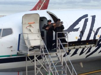 The first Copper River salmon of 2014 arriving in Seattle. (Photo courtesy of Alaska Airlines)