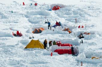 2010 Denali base camp. (NPS Photo/Kent Miller)