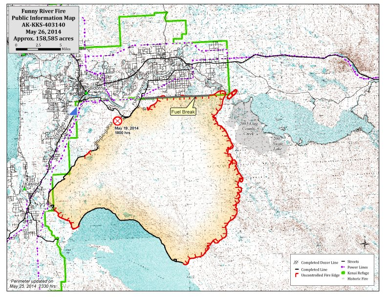 Funny River Fire map   KTOO